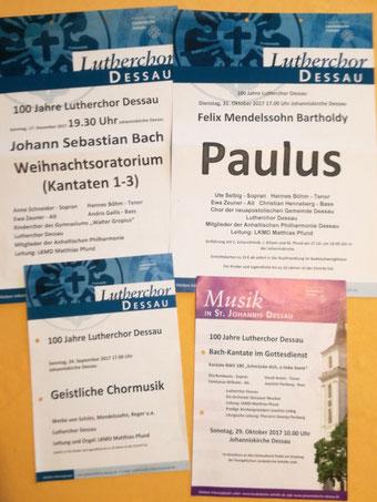 Konzertprogramme Lutherchor 2017