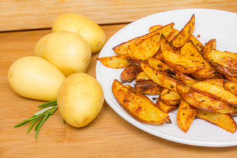 Country Fries Kartoffelspalten Rezept Country Cuts selber machen Country Potatoes