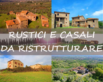 RUSTICI E CASALI DA RISTRUTTURARE