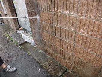 玄関先の高圧洗浄