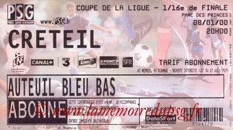 Ticket  PSG-Créteil  1999-00