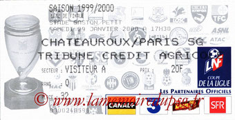 Ticket  Chatearoux-PSG  1999-00
