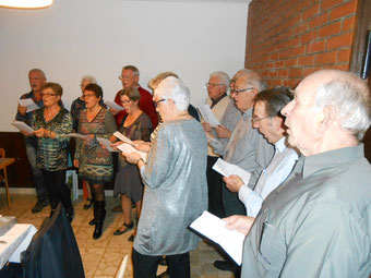 La chorale lors de l'AG 2016 à Mormont