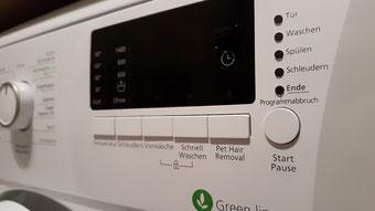 Waschmaschine mit Tierhaarwaschprogramm
