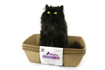 Katze sitz im KittyDoo Katzenklo