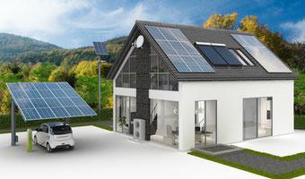 Photovoltaikanlage mit Carport