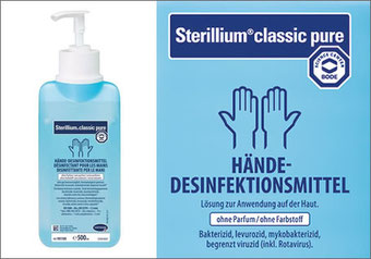Sterilium classic pure 500 ml mit Dosierpumpe