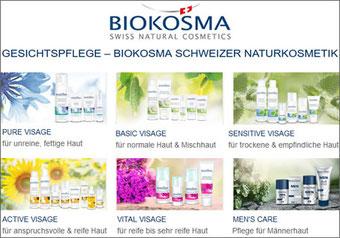 BIOKOSMA Schweizer Naturkosmetik - Gesichtspflege