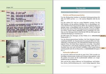 Links: Letzte Seite der Anlagen 1961  Rechts: Startseite 1962