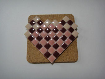 mosaic block heart   ¥700   販売済