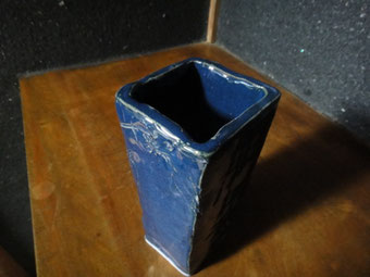 flower vase of blue crockery   ¥15000