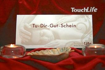 Gutschein für eine Behandlung in der Privatpraxis für TouchLife Massage in Pulheim bei Köln