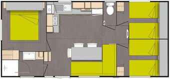 mobil home 3 chambres camping gers