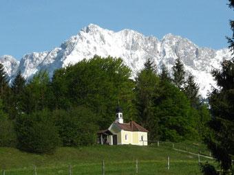 """Kapelle """"Maria Rast in Krün (© Foto: Detlef Fachinger)"""