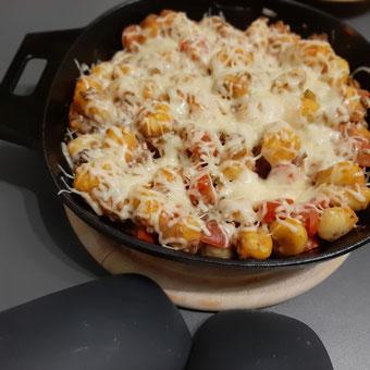 Gnocchi Cheesburger Style in der gusseisernen Pfanne von Pampered Chef®