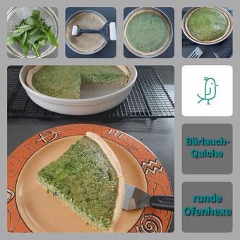 Bärlauch Quiche aus der runden Ofenhexe von Pampered Chef®