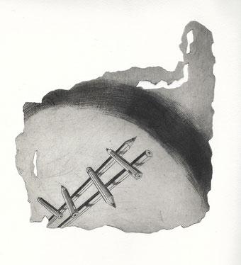 Blatt 6, Manfred Blieffert, Kupferstich und Mezzotinto, in Schwarz
