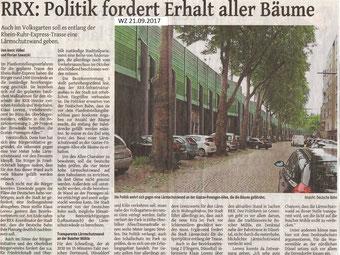 Westdeutsche Zeitung 21.09.2017