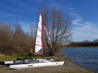 XCAT-Segelreviere fürs mobile Segeln | Segelkatamaran am Sportparksee Grambke, Bremen