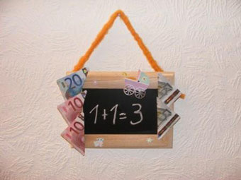 Geldgeschenke zum selber Basteln - Hier eine tolle Geschenkidee zur GEBURT