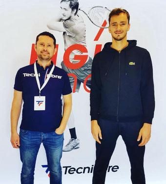 Matthieu Pogam et Daniil Medvedev - Photo Tecnifibre