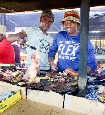 Der Single Quarter Markt in Windhoek. Hier kaufen die Einheimischen ihre Lebensmittel.