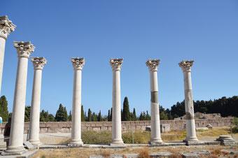 Die archäologische Stätte, das Asklepieion.