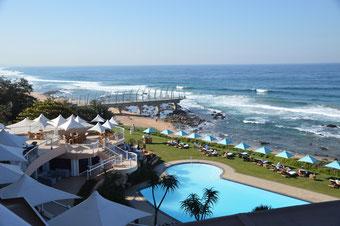 Der Blick von meinem Balkon im Beverly Hills Durban