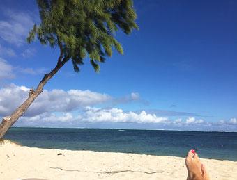 Am wunderbaren Strand des RIU Le Morne die Seele baumeln lassen...