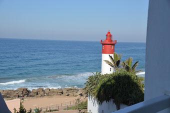 Traumhafter Blick vom Balkon des Beverly Hills Durban