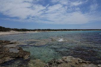 Kristallblaues Wasser auf Chrissi Island