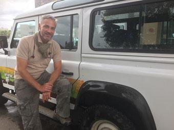 Landrover-Safari mit Andreas