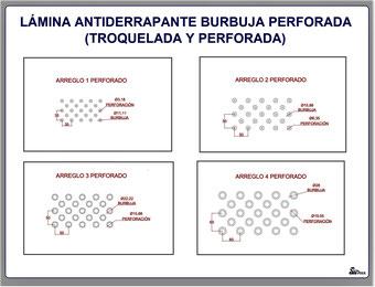 LÁMINA ANTIDERRAPANTE BURBUJA DISTRIBUCIÓN DE LAS BURBUJAS