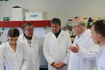 Fleur Schnee (v.l.), Prof.Dr. Rüdiger Holtmann, Thomas Marquardt, Dr. Michael Lohmeyer, Florian Götting