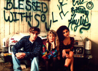 Eric, Haylie Johnson and the late Brittany Murphy. (left to right)