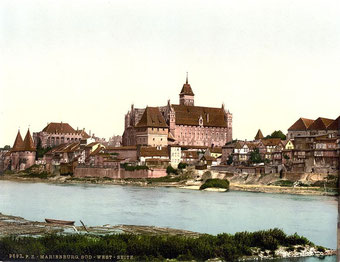 20世紀初頭に描かれたマルボルク城