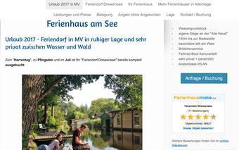 Webseite für Ferienwohnung erstellen Preis