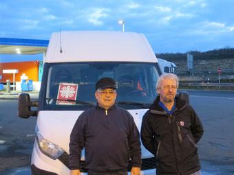 Die beiden Fahrer: Klaus-Dieter Then und Peter Schwartz