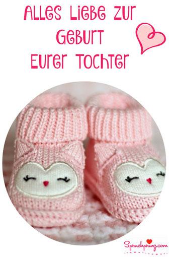 Glückwunschkarte Mädchen Geburt