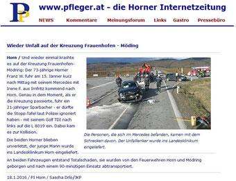 Horner Internetzeitung pfleger.at vom 18.01.2016