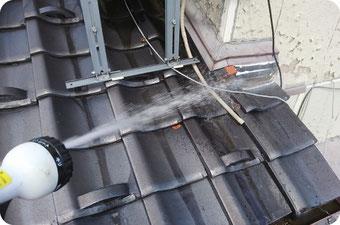 屋根の散水再現調査【雨漏り原因の特定方法|新潟|やねのヤマムラ】