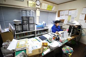 やねのヤマムラ(ヤマムラ板金 合同会社)の事務所内部