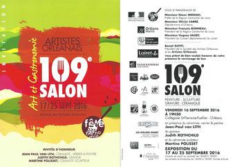 Claude Rossignol - Affiche 109è Salon des Artistes Orléanais 2016