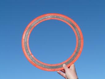 frisbee aerobie urlaub italien strand wurfobjekt spaß fun boomerang