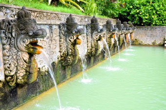 Holy Hot Springs in Banjar - relax time for you!  From Lovina with Bali Surya Tours Lovina