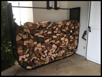 Rangement pour le bois, tout métal, pour l'extérieur, proposé par l Atelier