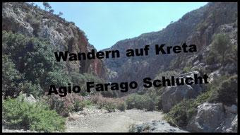 Wandern Kreta Agio Farago Schlucht Bericht Erfahrung
