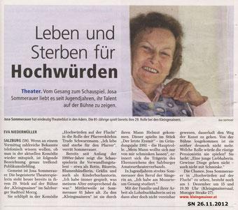 Salzburger Nachrichten 26.11.2012