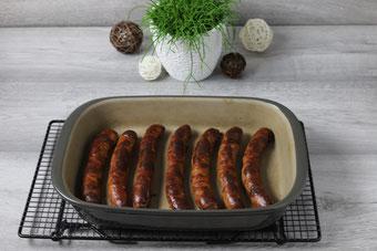 Bratwurst in der Ofenhexe aus dem Pampered Chef Onlineshop