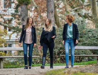 Veronika Steger, Vivienne Kaier und Julia Schratz bereiten sich im Winter für das nächste Unternehmerinnen.segeln vor